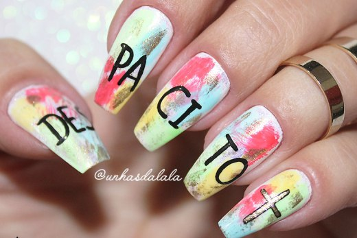 Unhas Decoradas Despacito - Luis Fonsi ft Daddy Yankee