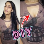 DIY: Como Customizar Blusa – Criando Decote