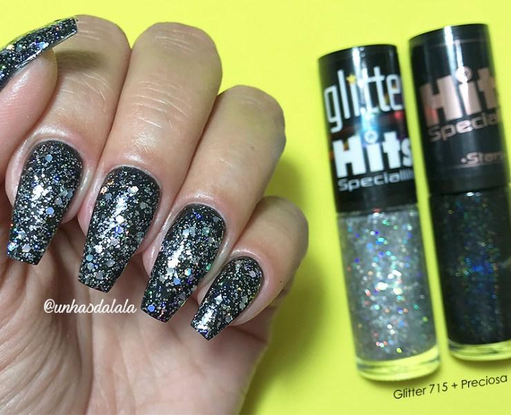 Swatch Glitter Hits, glitter hits, lançamento glitter hits, glitter, hits, hits speciallità, esmalte hits, glitter emojis, glitter branco, glitter prata holográfico, glitter vermelho, esmalte com emojis, lançamento glitter hits
