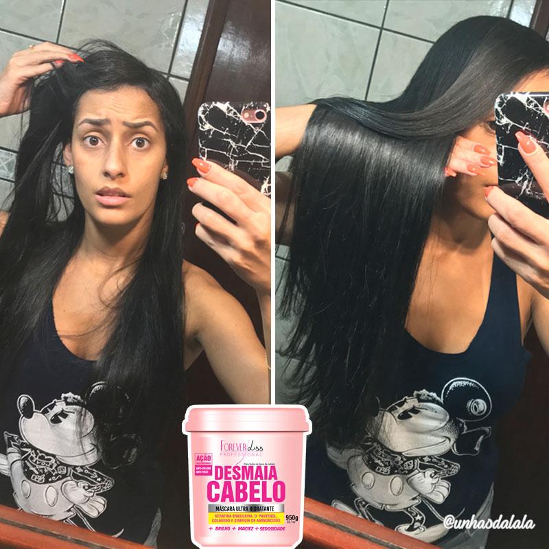 testando desmaia cabelo forever liss