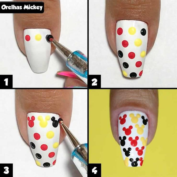 5 unhas decoradas rápidas e fáceis para iniciantes, unhas para iniciantes, unhas fáceis, passo a passo fácil, unhas rápidas, unhas simples, unhas decoradas fáceis, unhas decoradas para iniciantes, unhas decoradas rápidas, unhas para iniciantes, unhas decoradas, unhas decoradas mickey, unhas mickey, orelhinhas mickey, nail art, mickey nails, mickey nail art