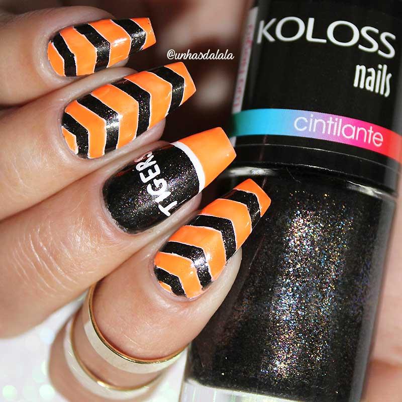 unhas decoradas swish swish, swish swish, swish swish nail art, unhas, unhas decoradas, esmalte, esmalte laranja, esmalte oreto