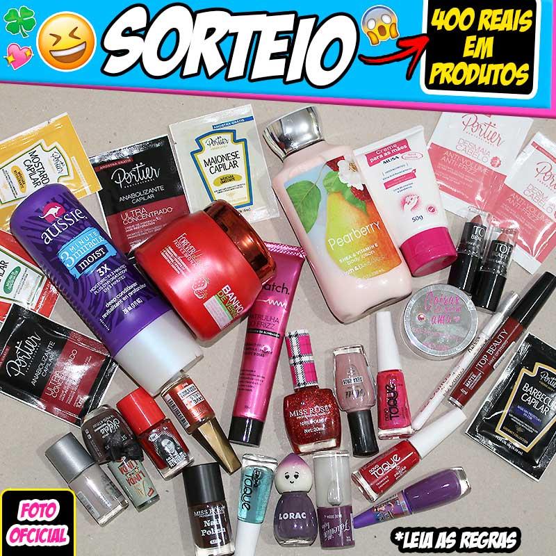 SORTEIO: 400 Reais em Produtos de Beleza (Setembro 2017)