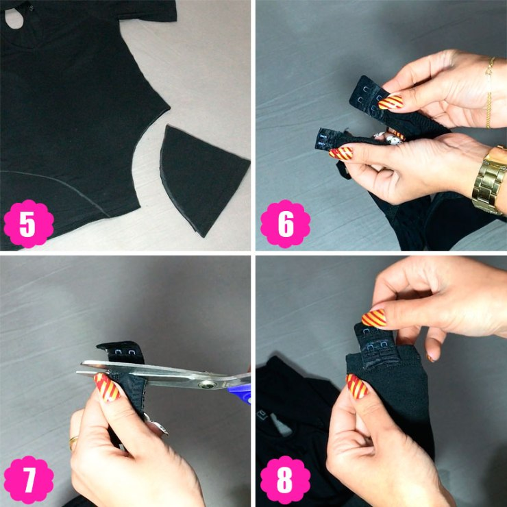 diy customizando roupa - body