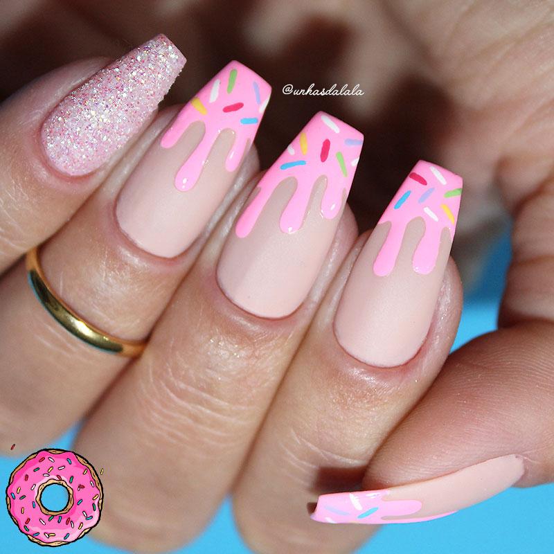 desafio unhas do instagram - unhas donuts getbuffednails