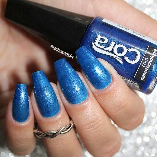 review esmalte cora metal blue