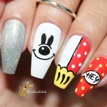 unhas decoradas mickey