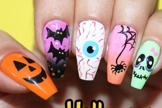 5 unhas fáceis para o halloween