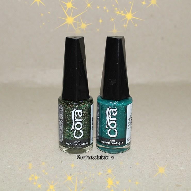 recebidos esmalte cora, glitters, glitter, top glitters cora, glitters cora, esmalte cora, glitter verde