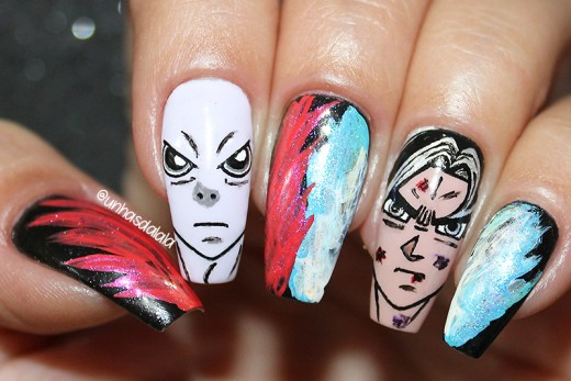 unhas decoradas dragon ball super 1