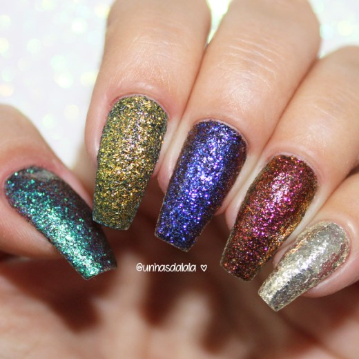 swatch glitter multichrome hits