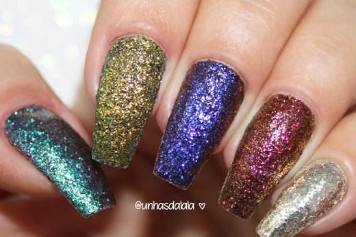 swatch glitter multichrome hits