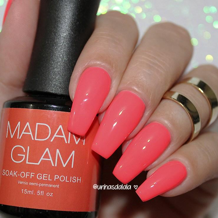 Testando Esmalte Em Gel Neon da Madam Glam