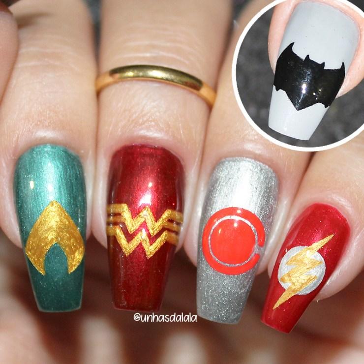 unhas decoradas liga da justiça, liga da justiça, liga da justiça 2017, unhas liga da justiça, justice league, justice league nails, unhas decoradas mulher maravilha, mulher maravilha, unhas decoradas batman, batman, unhas decoradas aquaman, aquaman, unhas decoradas flash, flash, unhas decoradas cyborg, cyborg, unhas da lalá