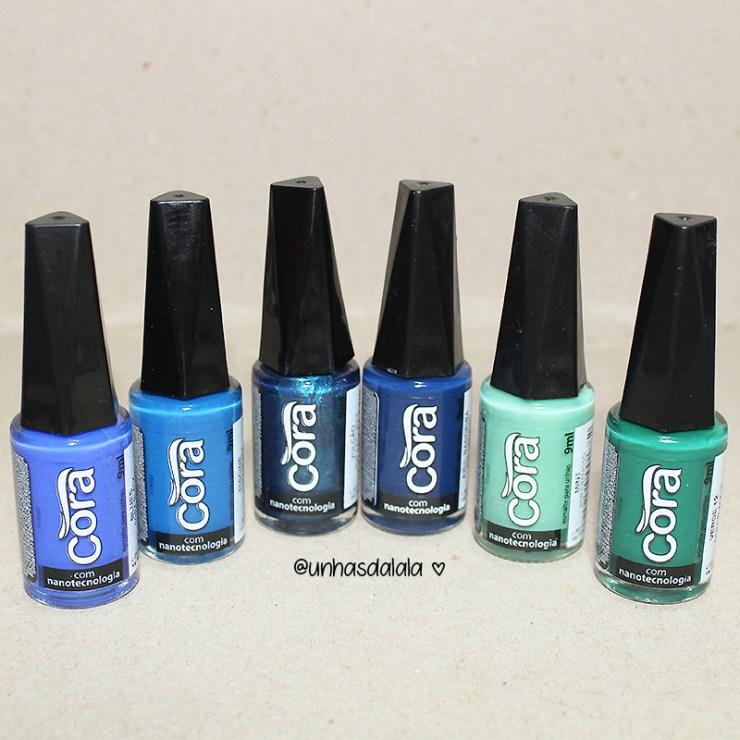 recebidos cora, esmalte cora, cora esmaltes, recebidos, esmalte azul, esmalte azul escuro, esmalte verde