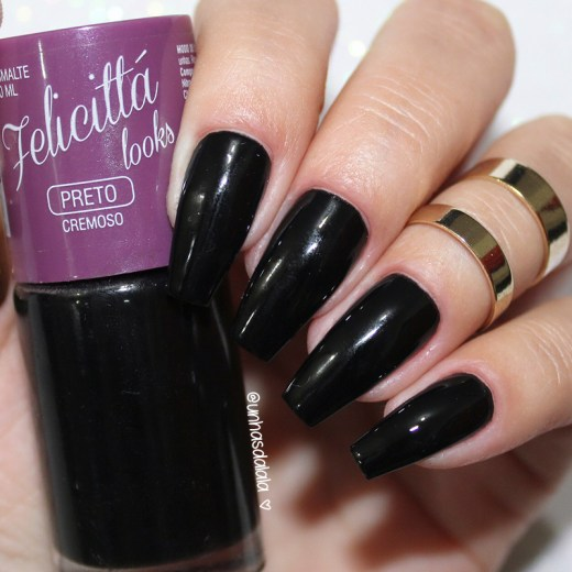 review esmalte preto felicittá looks