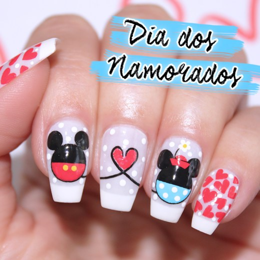 unhas dia dos namorados mickey e minnie, unhas decoradas mickey e minnie, unhas mickey, unhas minnie, mickey, minnie, mickey nails, minnie nails, mickey nail art, minnie nail art, dia dos namorados, unhas dia dos namorados, mickey e minnie, unhas da lala, larissa leite