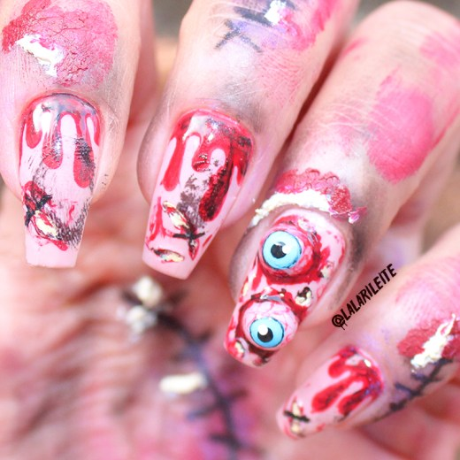 unhas decoradas halloween olhos, halloween, unhas decoradas, nail art, hallowen nails, dia das bruxas, unhas com olhos, unhas zumbi, unhas feridas fake, unhas da lala, larissa leite, olhos halloween, nail art halloween, unhas halloween, unhas dia das bruxas,