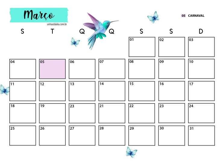 Agenda Planner 2019 Para Imprimir Unhas Da Lala