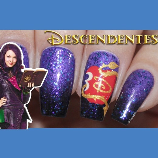 unhas descendentes, descendentes 3, descendentes, nail art descendentes, unhas descendentes 3, ombre nails, unhas degrade, descendants nail art, descendants 3, descendants 3 nail art, unhas da lala, lala, larissa leite, blog unhas da lala