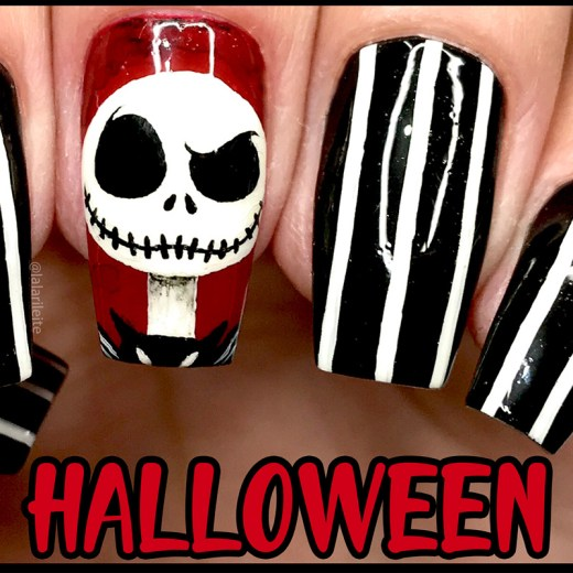 halloween, unhas halloween, unhas de halloween, unhas decoradas halloween, unhas jack esqueleto, unhas jack skellington, jack skellington nails, nail, nails, nail art, tim burton art, desenhos tim burton, unhas da lala, larissa leite, ideias unhas halloween, unhas dia das bruxas, unhas decoradas