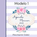 PLANNER E AGENDA 2020 PARA IMPRIMIR GRÁTIS (MODELO 1)