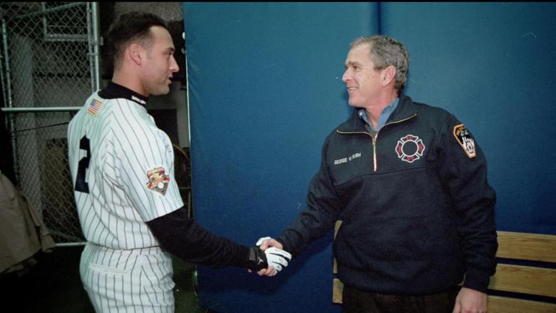 Derek Jeter And George H. Bush