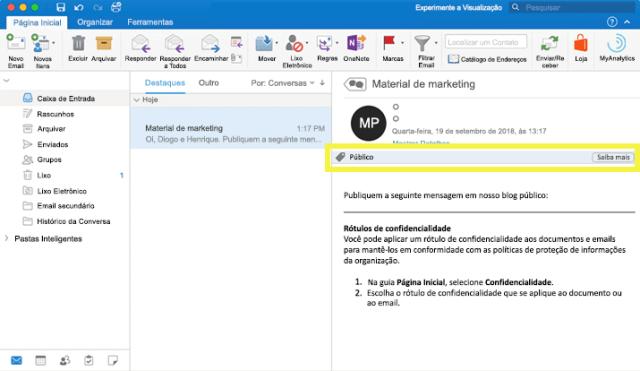 O que é um rótulo de confidencialidade no Microsoft 365 2