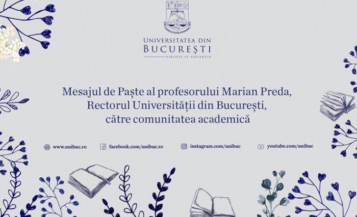 mesaj rector ub paste 2020 video unibuc