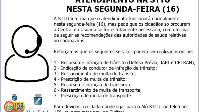 STTU orienta atendimento on-line