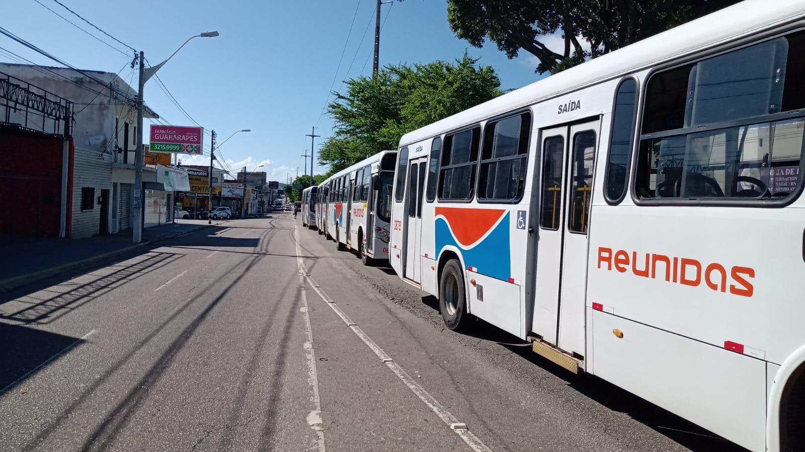 Nova paralisação de rodoviários das empresas Santa Maria e Reunidas na manhã de hoje