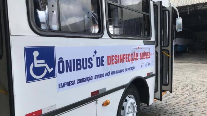 Empresa Conceição cria estrutura móvel de desinfecção de pessoas
