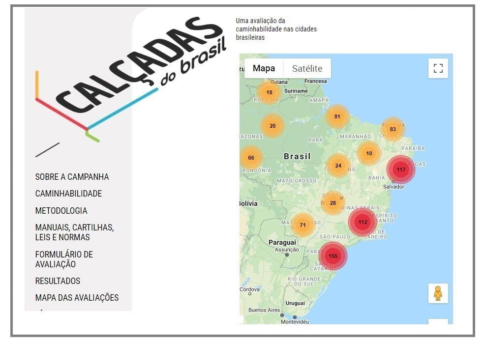 Mobilize lança o Mapa Calçadas do Brasil