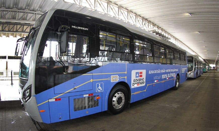 BYD fornece ônibus elétricos para Salvador durante obras do VLT