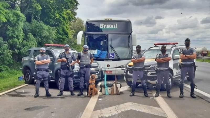 SP: Passageiro da Trans Brasil é preso durante fiscalização transportando espingardas