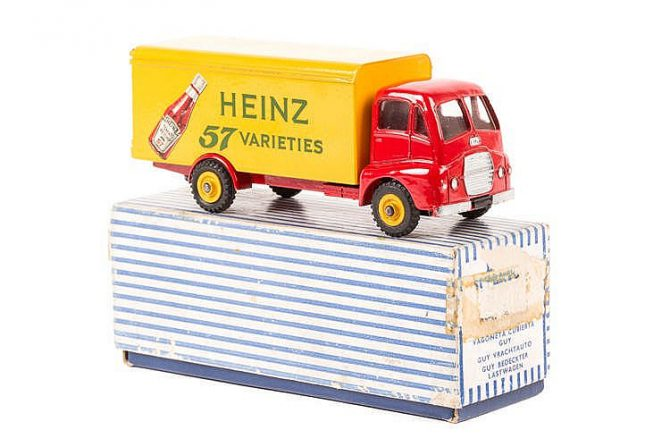A Dinky Supertoys Guy Warrior 'Heinz' Van (920). Sold for £1100 via Wallis & Wallis (November 2017).