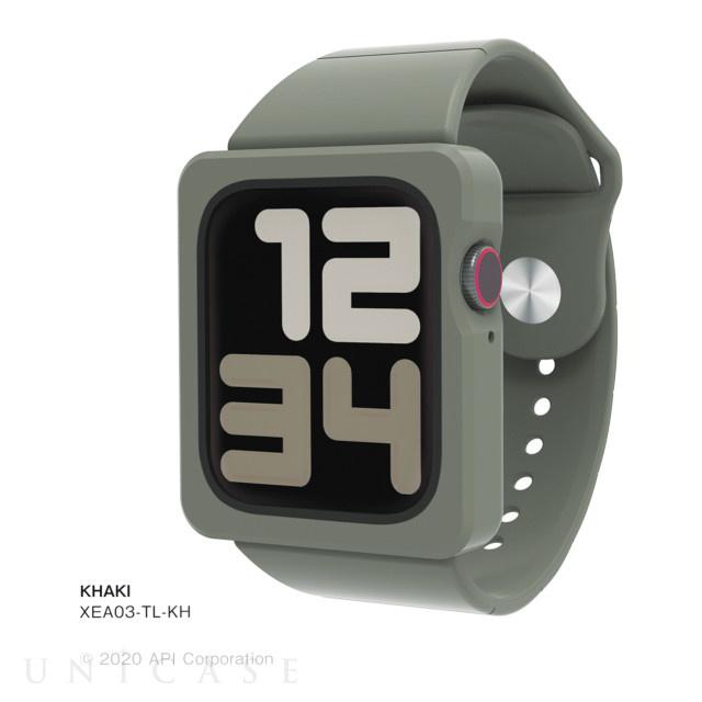 applewatch se series6 5 4 44mm ケース tile apple watch band case khaki unicase