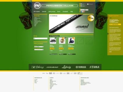 Percussion village sito web negozio musicale