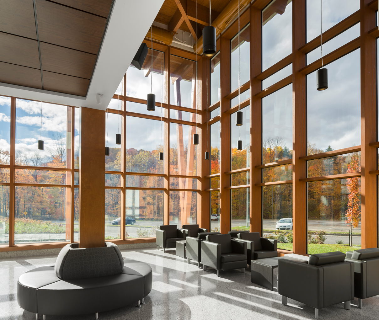 timber curtain wall unicel architectural