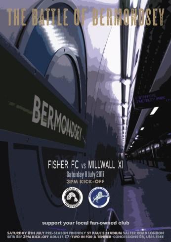 Fisher v Millwall Sat 8 Jul pre-season friendly