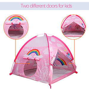play tent for girls pink