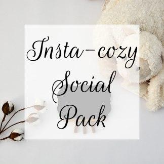 Insta-cozy Social Pack 1 © Unicorn Dreamlandia Styled Stock