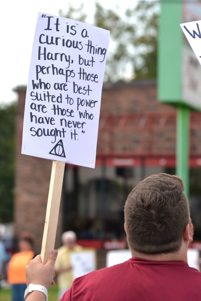 Trump Protest Signs Harry Potter