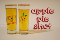 Apple Pie Shot with Fireball
