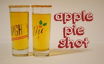 Apple Pie Shot with Fireball