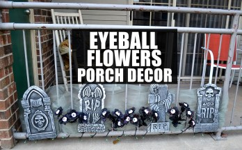 Eyeball Flowers Graveyard Porch Decor DIY