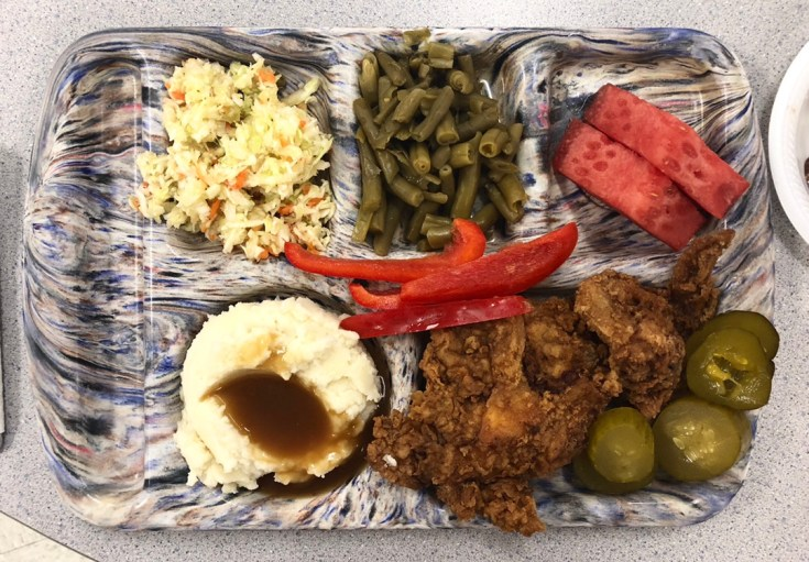 Lunch Tray of food