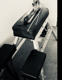 Spanking bench with tools