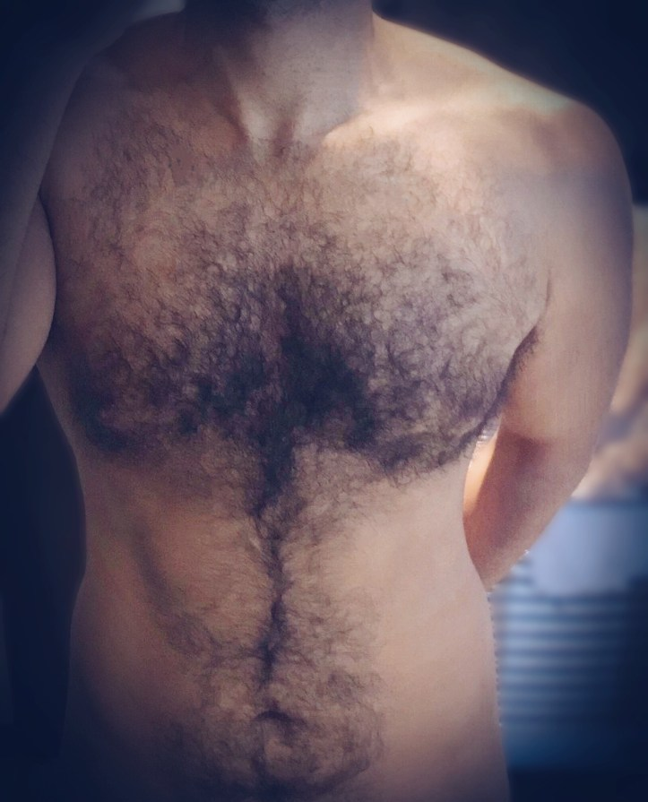 A naked torso of a young man