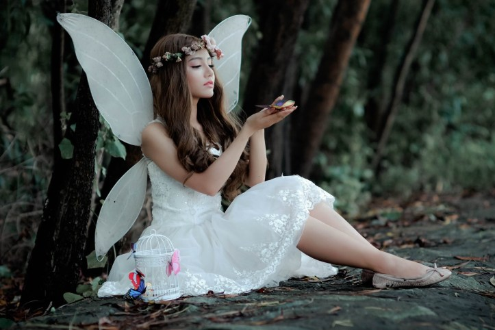 Woman dressed as a fairy